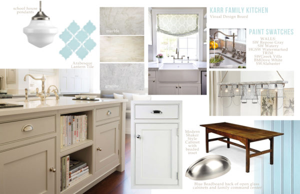 Karr Kitchen Design Board