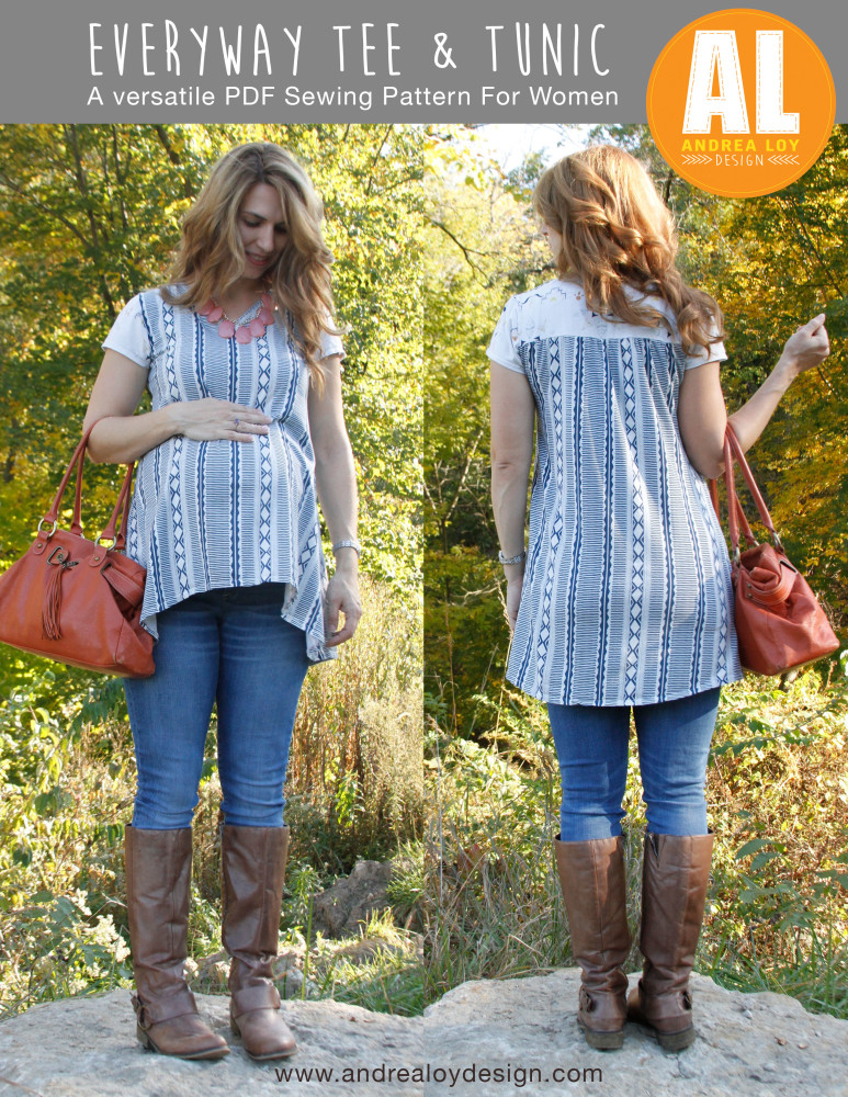 Introducing The Everyway Tee & Tunic   A New PDF Sewing